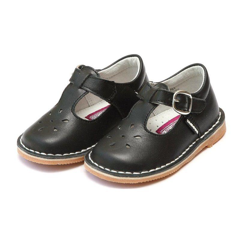 Joy Classic Leather Stitch Down T-Strap Mary Jane, Black
