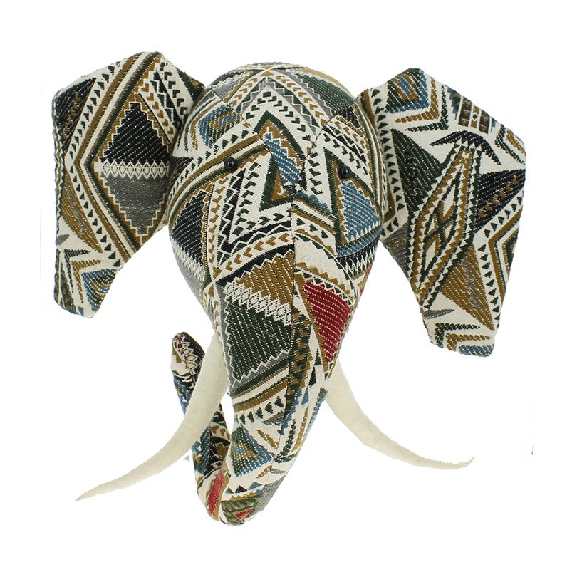 Tapestry Patchwork Elephant Head