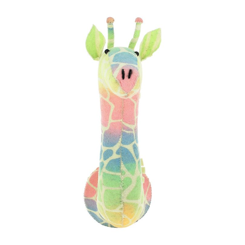 Semi Giraffe Head, Stencil Print