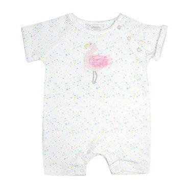 Crochet Flamingo Confetti Babyvest