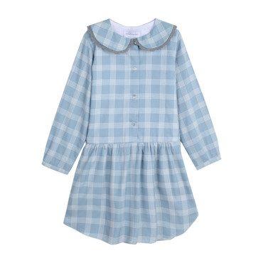 Lovely Checks Dress, Aqua