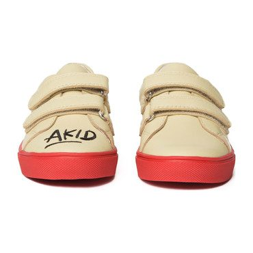 Axel Leather AKID Embroidery, Cream