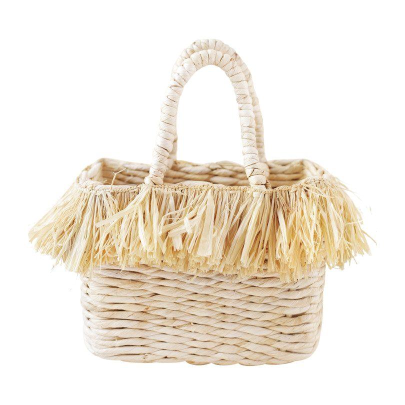 Frieda Fringed Bag, Natural