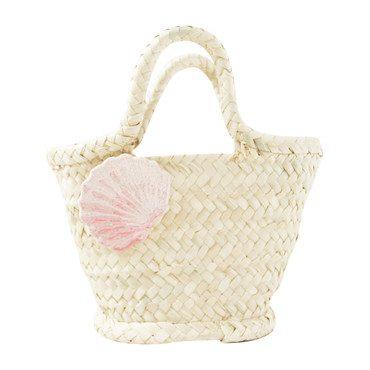 Calico Shell Bag, Natural