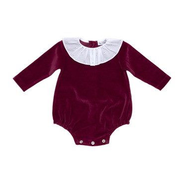 *Exclusive* Rosie Romper, Beet Red