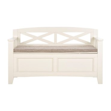 Anisa Storage Bench, Bone White