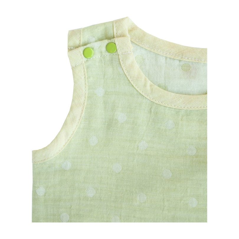 100% GOTS-Certified Organic Cotton Sleeveless Bodysuit, Lime