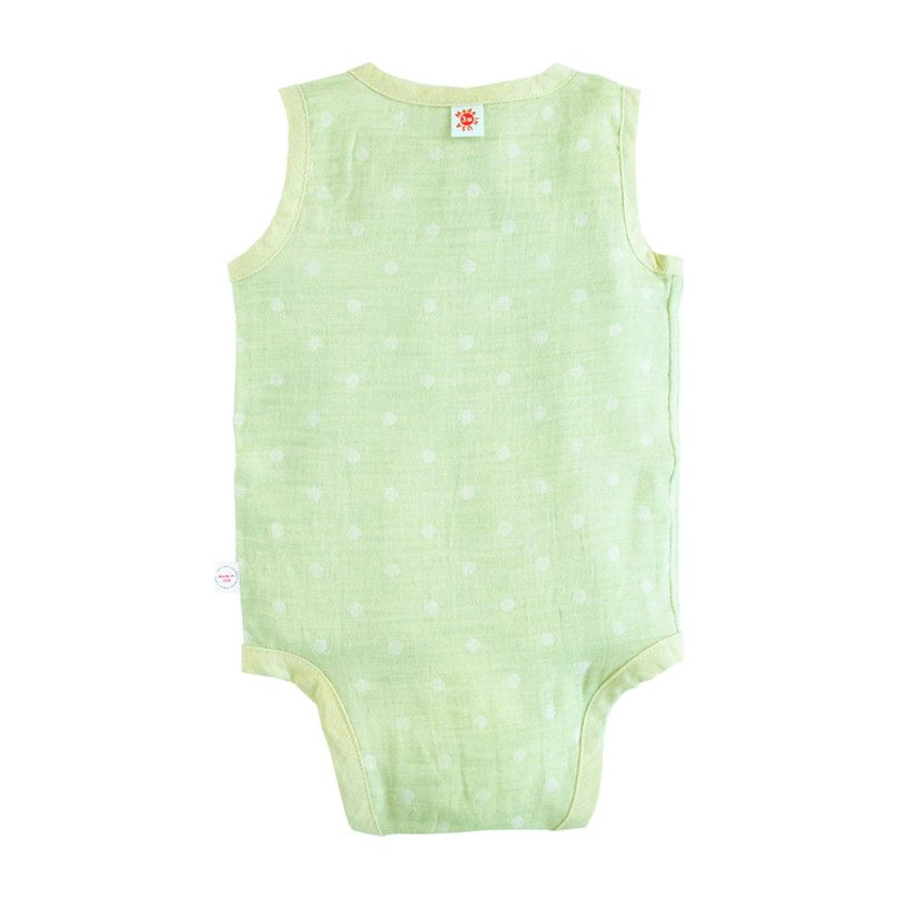 100% GOTS-Certified Organic Cotton Sleeveless Bodysuit, Lime