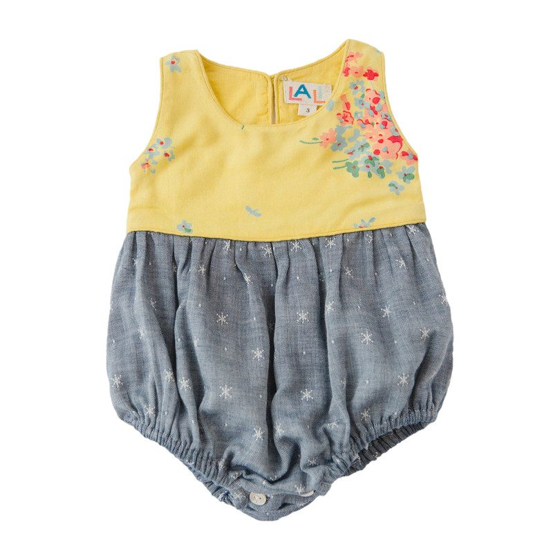 Baby Grace Bubble, Yellow Floral