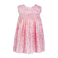 Bee Baby Dress, Pink Stripe