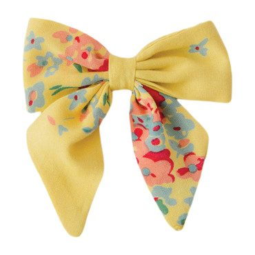 Big Sailor Bow, Yellow Floral