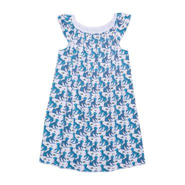 "Girls ""Kath the Tiger"" Marina Dress, Teal"