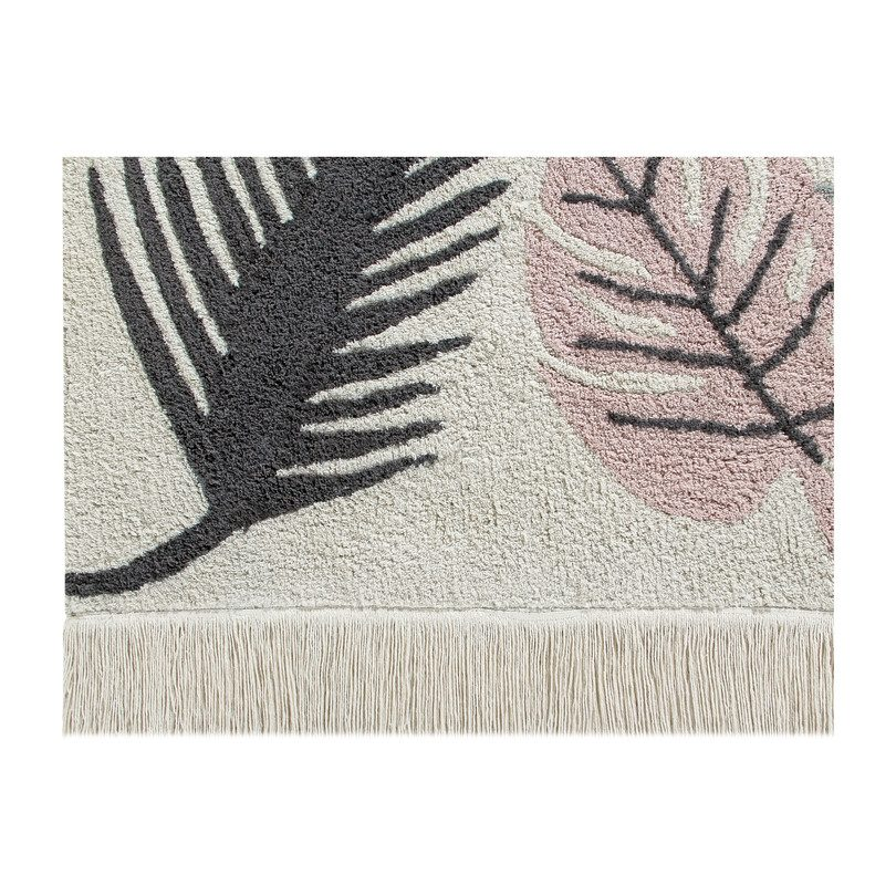 Washable Rugs Pink: Tropical Washable Rug, Pink