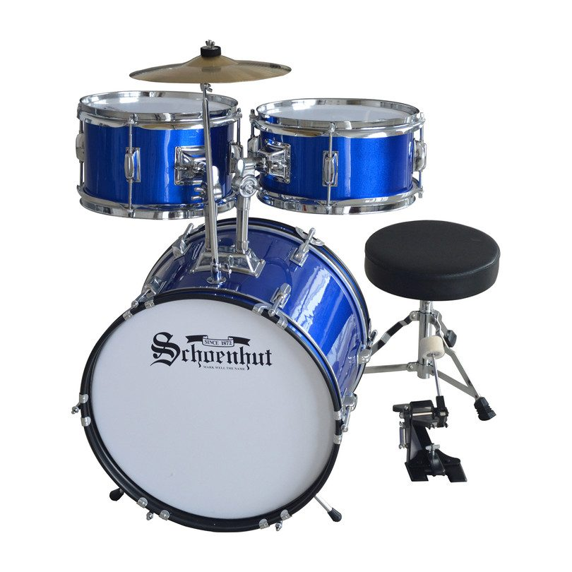 5-Piece Drum Set, Blue