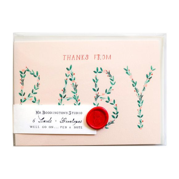 Set of 6 Thanks From Baby Notecards
