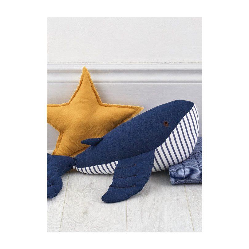 Plush Denim Whale