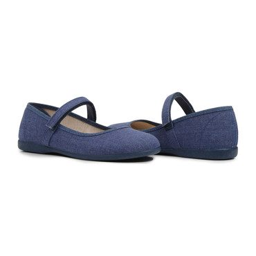 Canvas Mary Janes, Indigo Blue