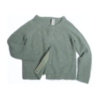 Cotton Classic Crew Neck Cardigan, Bean