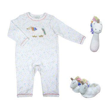Crochet Rainbow Unicorn Baby Gift Set