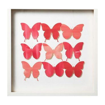 Pink Butterfly Collage