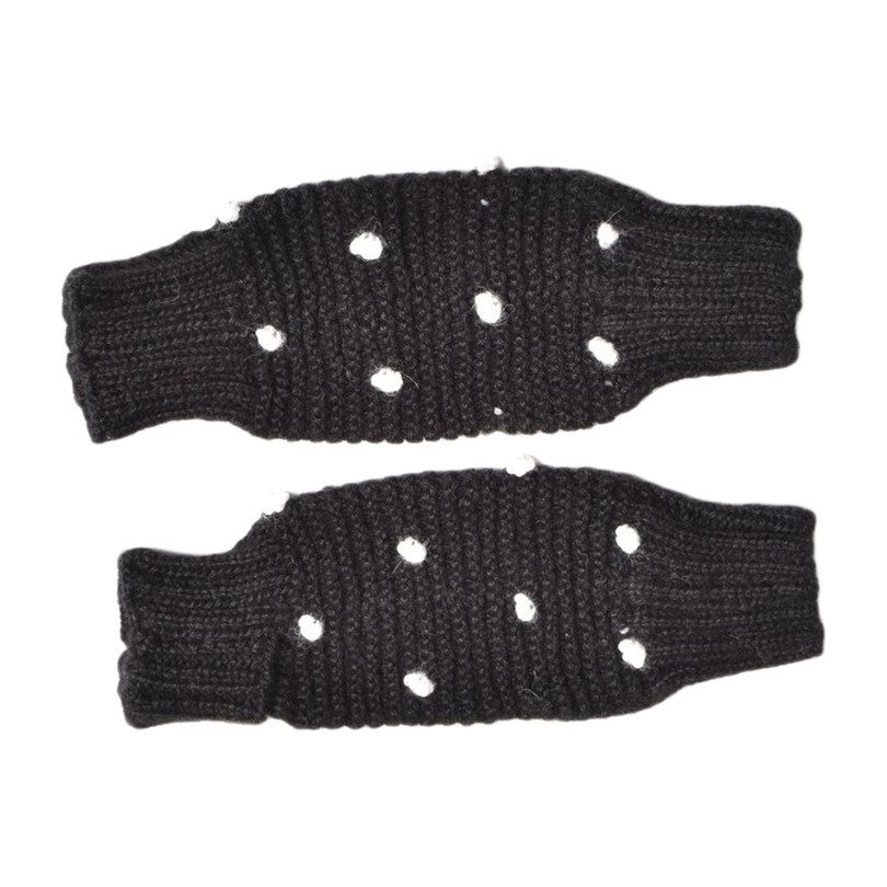 Dot Leg Warmers, Black