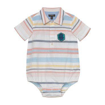 Ethan Onesie, Multi Stripe Cotton