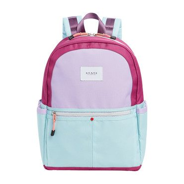 Colorblock Kane Backpack, Purple/Green