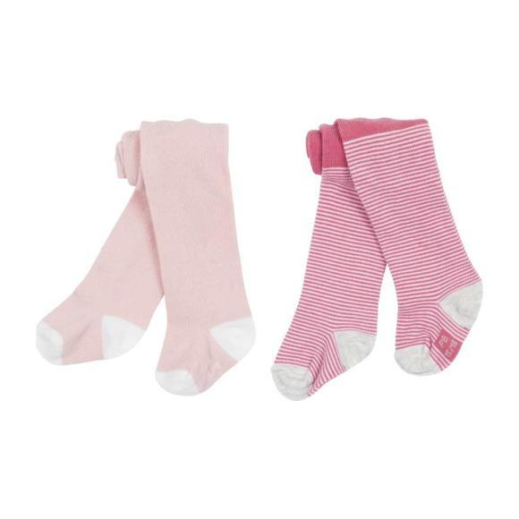 Set of 2 Baby Tights, Pink