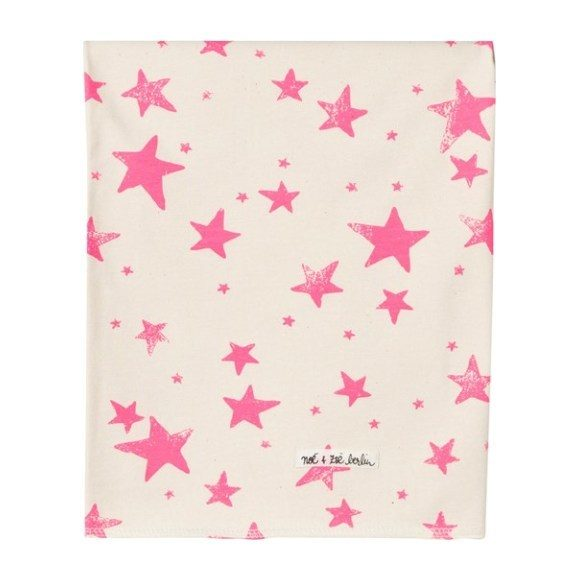 Neon Pink Stars Blanket