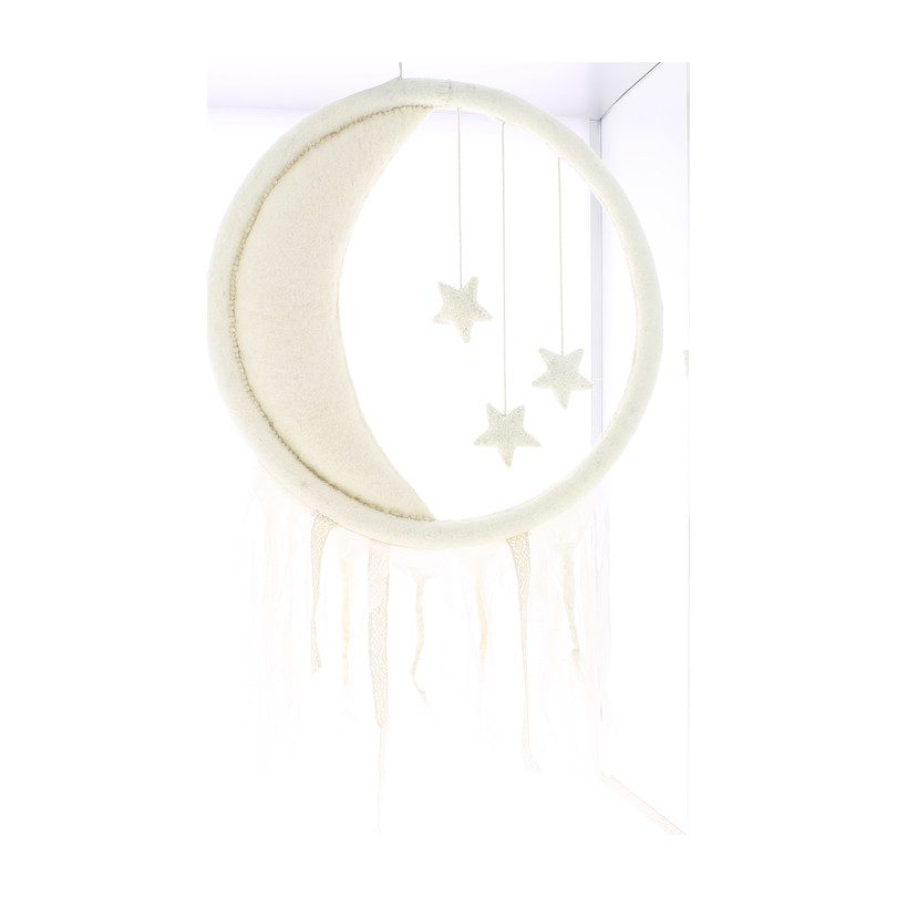 Crescent Moon & Stars Mobile