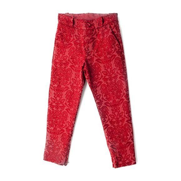 Brocade Gaby Pants, Red
