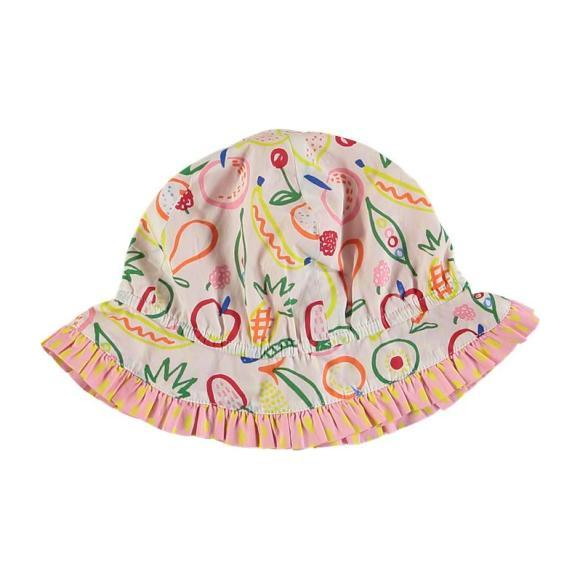 Fruit Print Baby Sun Hat, White
