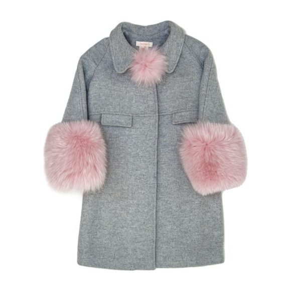 Tala Coat With Fur Outerwear Maisonette