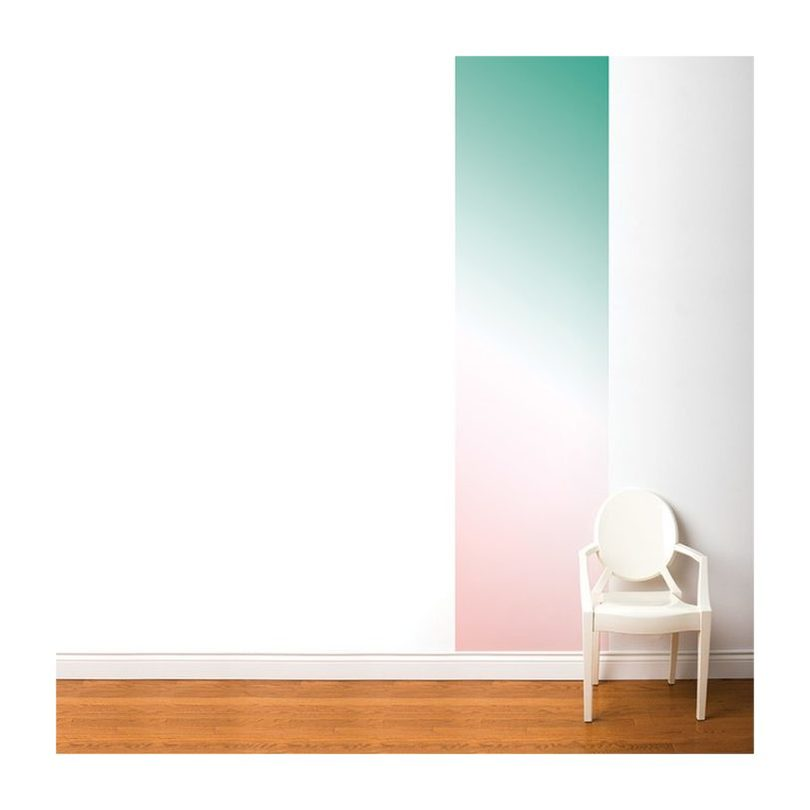 Ombre Wallpaper, Green and Pink