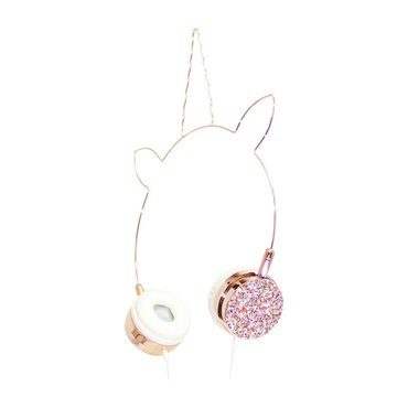 Unicorn Headphones, Rose Gold/Multi Glitter