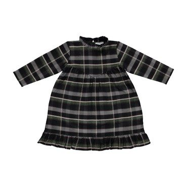 Harper Dress with Ruffles, Checked