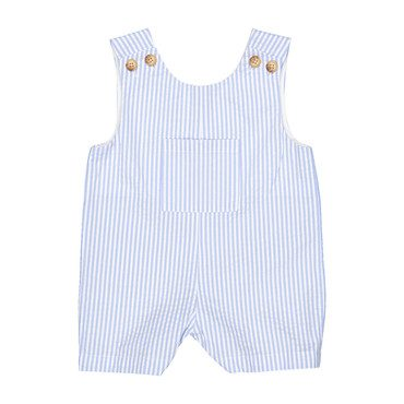 James Seersucker Shortall, Blue/White