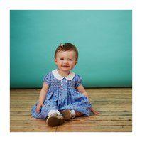 Jacqueline Baby Dress, Blue Floral