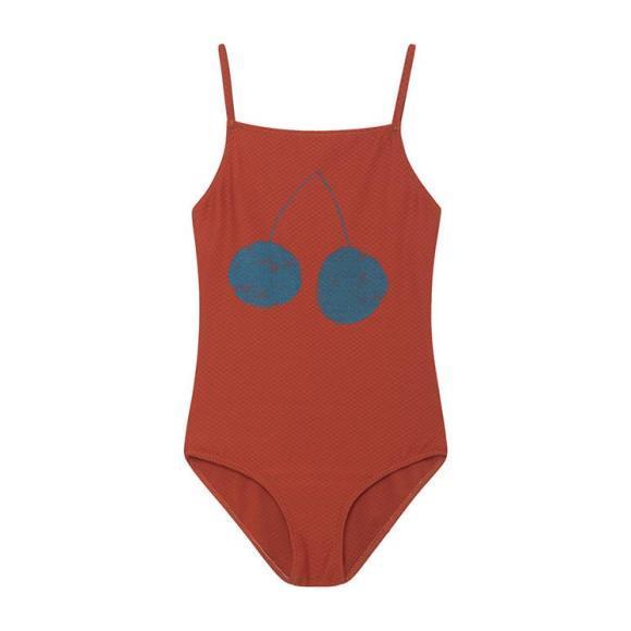Kids Swimsuit, Red Cherry Print