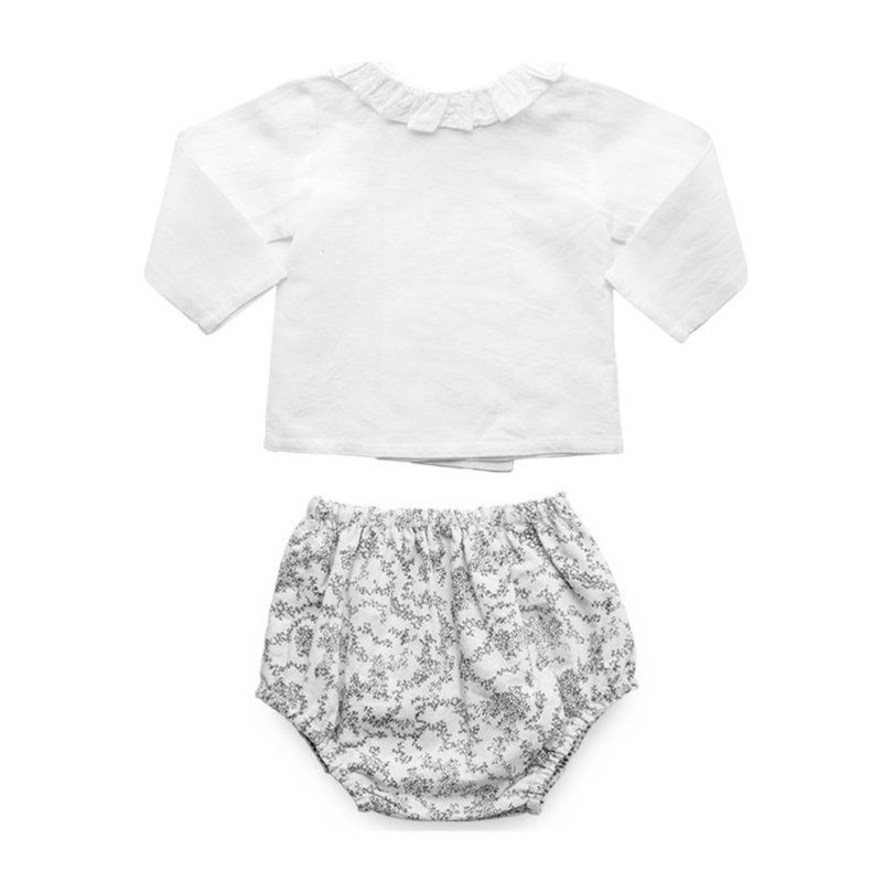 """Double Button Blouse & Bloomer Gift Set, """"Florence"""" Italian Cotton"""