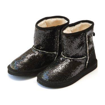 Glinda Girl's Sparkly Glitter Boot, Black