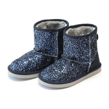 Glinda Girl's Sparkly Glitter Boot, Navy