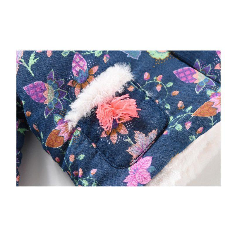 Baby Palto Coat, Blue Pine Cone