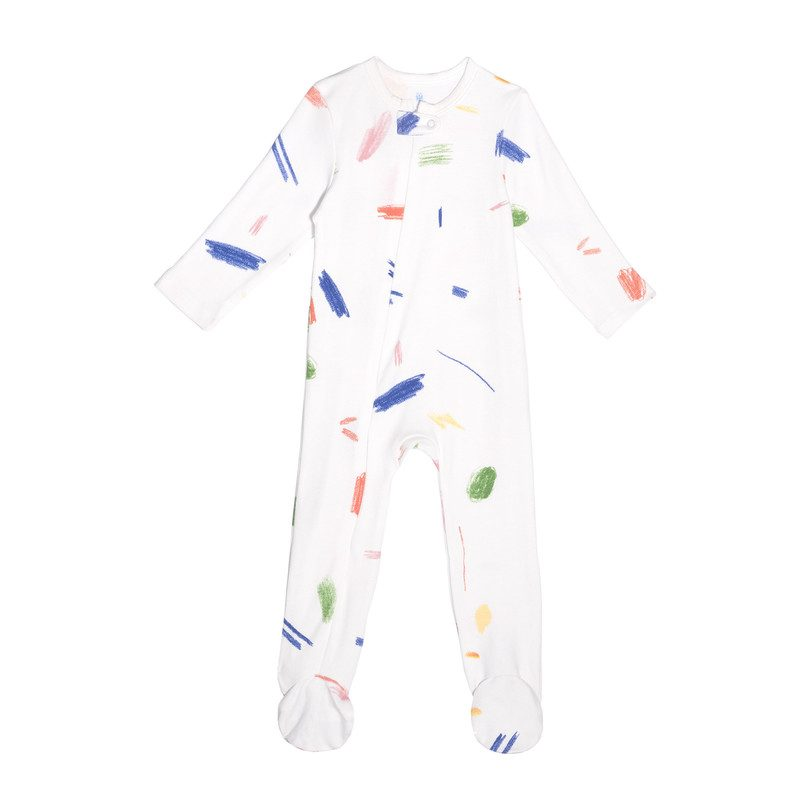 Footie Pajamas, Multi Doodle