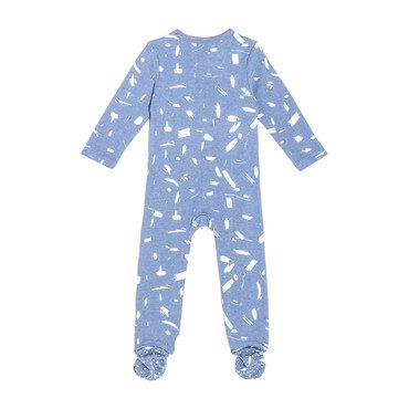 Footie Pajamas, Blue Doodle