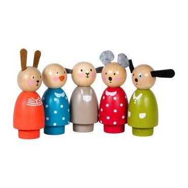 La Grande Famille Wooden Characters