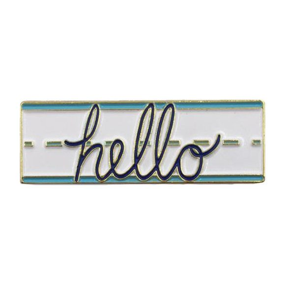 Hello Enamel Pin