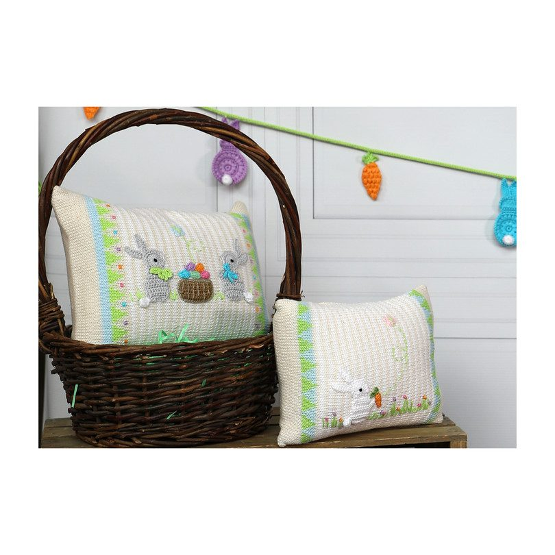 Mini Spring Bunny Pillow, Stripes