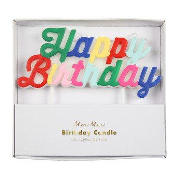 Happy Birthday Candle, Multicolor