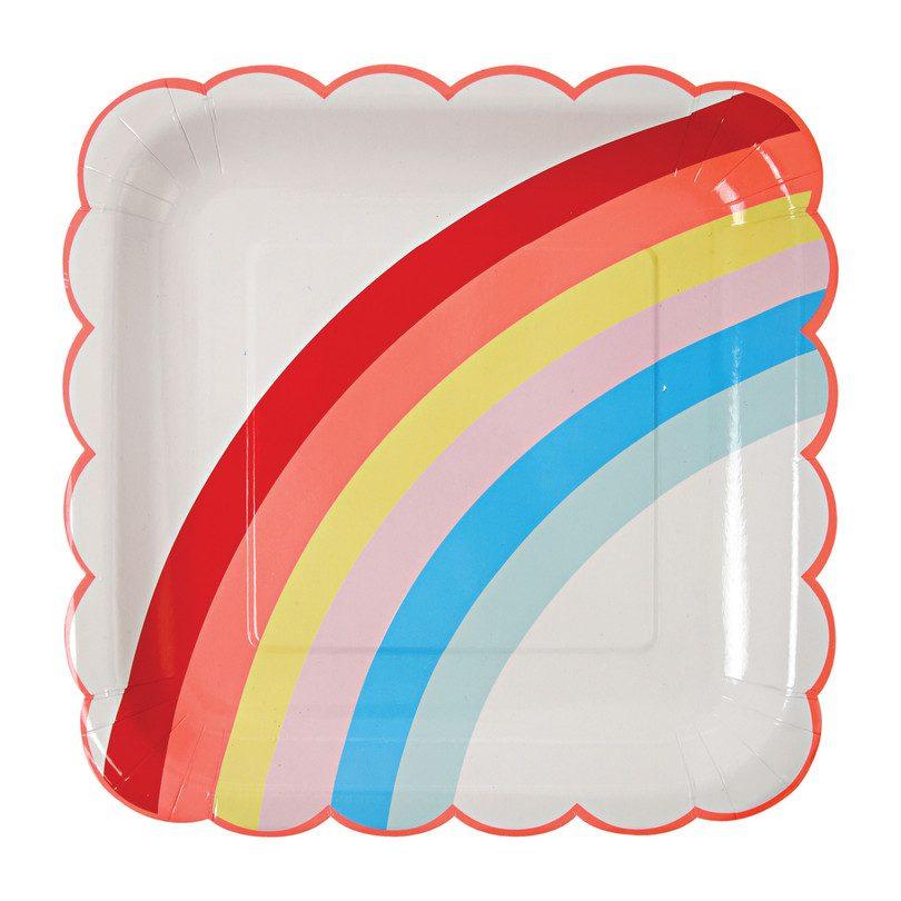 Rainbow Plates, Large